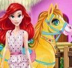Princesa Ariel cuidar do pônei