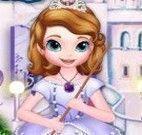 Princesa Sofia limpar castelo