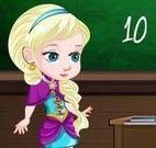 Anna e Elsa na escola