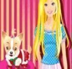 Barbie e seu lindo cachorrinho