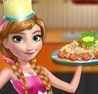 Anna Frozen receita de macarrão