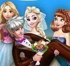 Elsa e amigas no casamento
