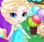 Elsa decorar loja dos sorvetes