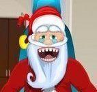 Papai Noel no consultório do dentista