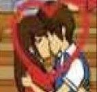 Jogos de beijar na escola