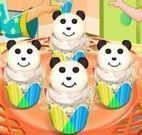 Fazer cupcakes de queijo do panda