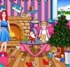 Barbie limpar casa de natal
