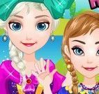 Anna e Elsa no piquenique