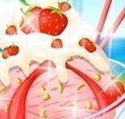 Receita se sorvete de morango