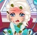 Elsa bebê no hospital