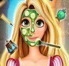 Princesa Rapunzel limpeza de facial
