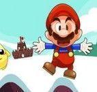 Mario aventuras de saltar na neve
