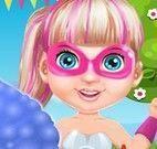 Bebê Super Barbie fazer algodão doce