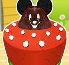 Fazer bolo com Mickey
