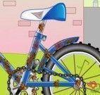 Consertar bicicleta da criança