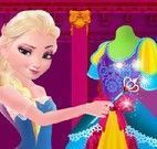 Elsa fazer vestido