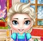 Elsa bebê preparar para escola
