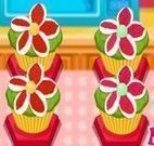 Cupcakes de flores preparar
