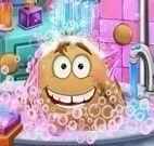 Pou no banho de banheira