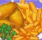 Receita de nuggets com fritas