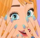 Anna Frozen pintar unhas