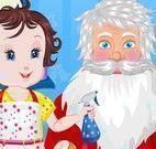 Cuidar da barba de cabelo do Papai Noel
