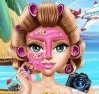 Tratamento facial de menina