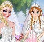 Vestir Anna e Elsa noiva