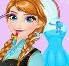 Vestir Anna e maquiar