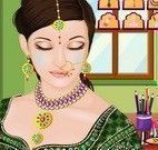 Vestir e maquiar noiva indiana