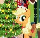 Applejack roupas e decoração de natal