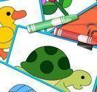 Colorir e montar puzzle