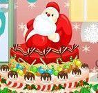 Decoração do bolo natalino