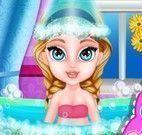 Elsa bebê spa banheira