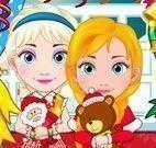 Elsa e Anna compras de natal
