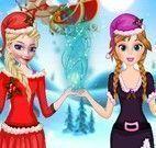 Elsa e Anna roupas natalinas