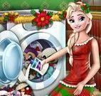 Elsa lavar acessórios de natal