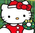 Hello Kitty natal colorir