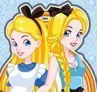 Maquiar e vestir Alice