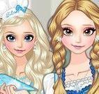 Maquiar e vestir Elsa