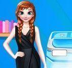 Princesa Anna lavar roupas