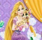 Rapunzel banho do gatinho