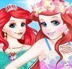 Roupas da Ariel humana e sereia
