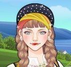Vestir menina da Noruega