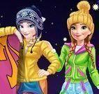 Anna e Elsa férias de esqui