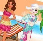 Elsa e Moana férias