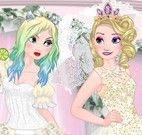 Elsa noiva e Anna