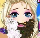 Frozen Elsa fazer barba
