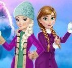 Irmãs Frozen roupas da neve
