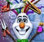 Olaf no salão de beleza
